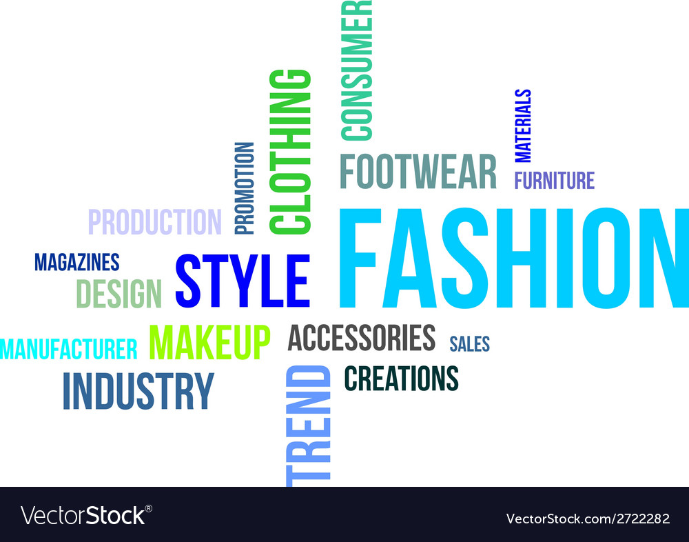 Word cloud fashion vector | Price: 1 Credit (USD $1)