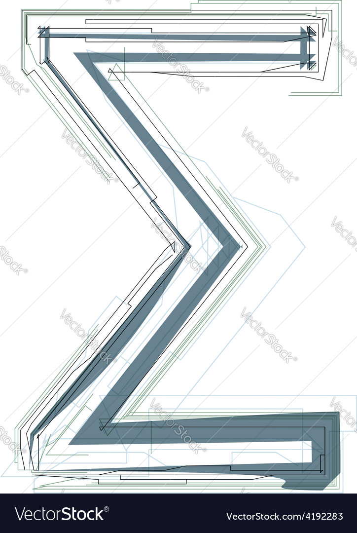Abstract sigma sum sign vector | Price: 1 Credit (USD $1)