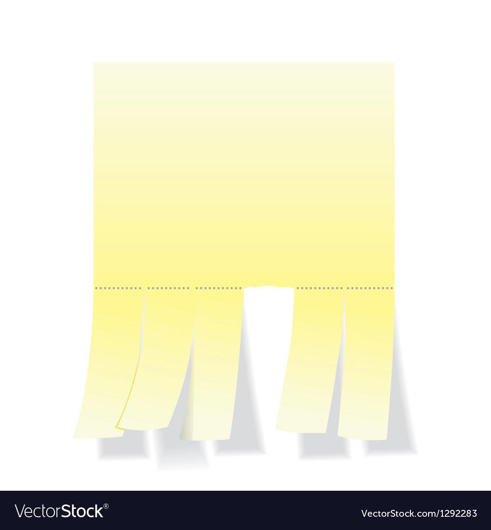 Blank notepaper vector | Price: 1 Credit (USD $1)
