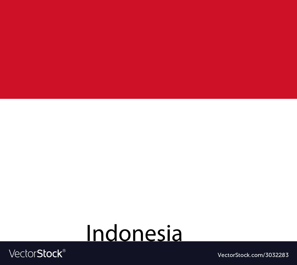 Flag of the country indonesia vector | Price: 1 Credit (USD $1)