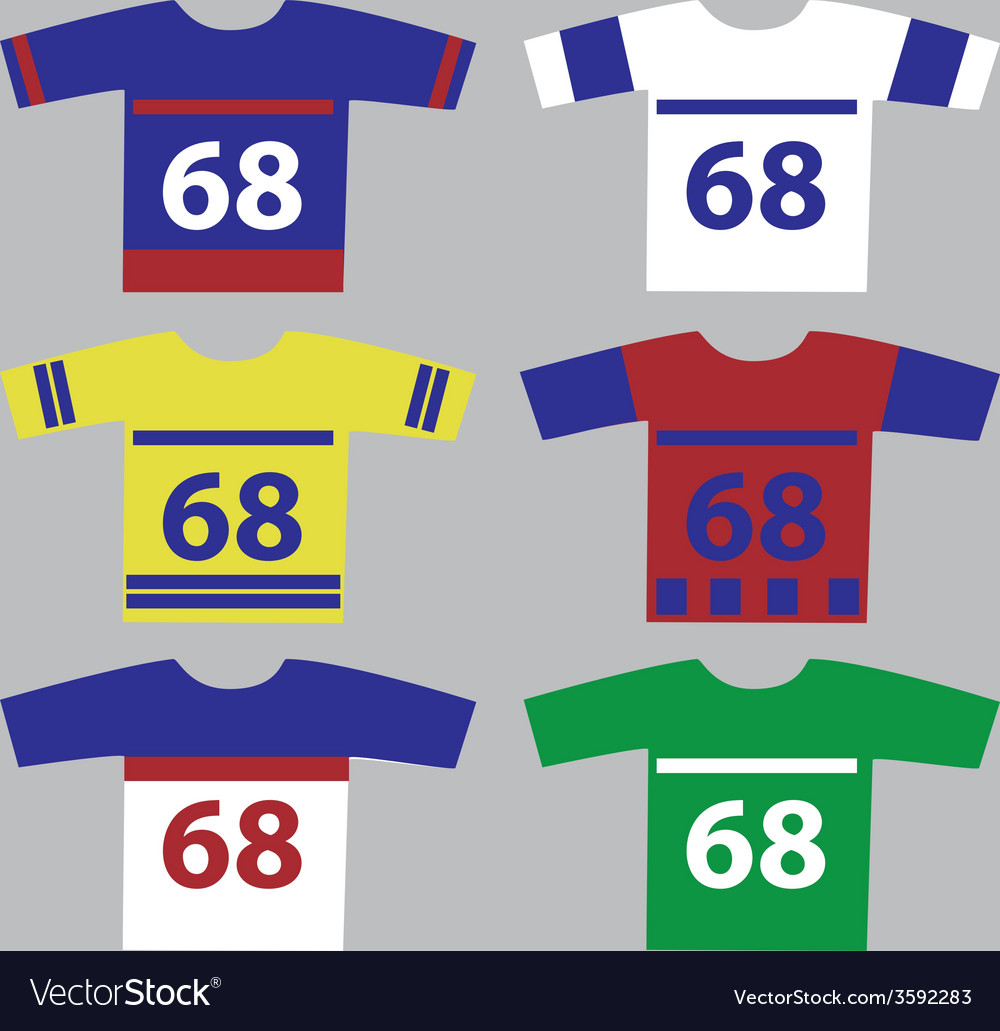 Ice hockey jersey set with player numbers eps10 vector | Price: 1 Credit (USD $1)