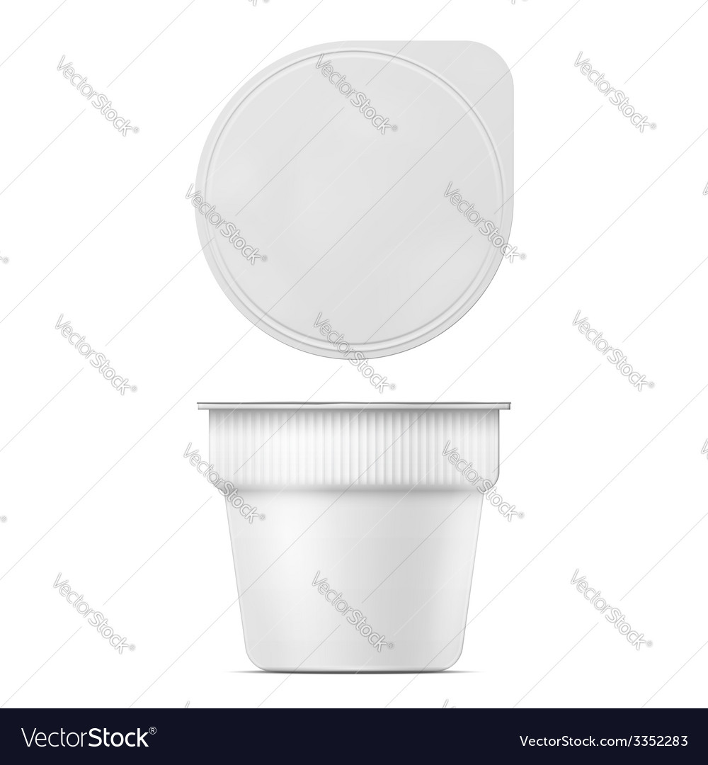 Instant mashed potato container template vector | Price: 1 Credit (USD $1)