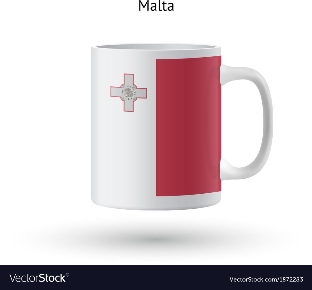 Malta flag souvenir mug on white background vector | Price: 1 Credit (USD $1)