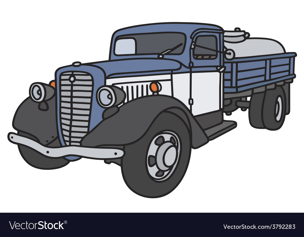 Old dairy tank truck vector   Price: 1 Credit (USD $1)