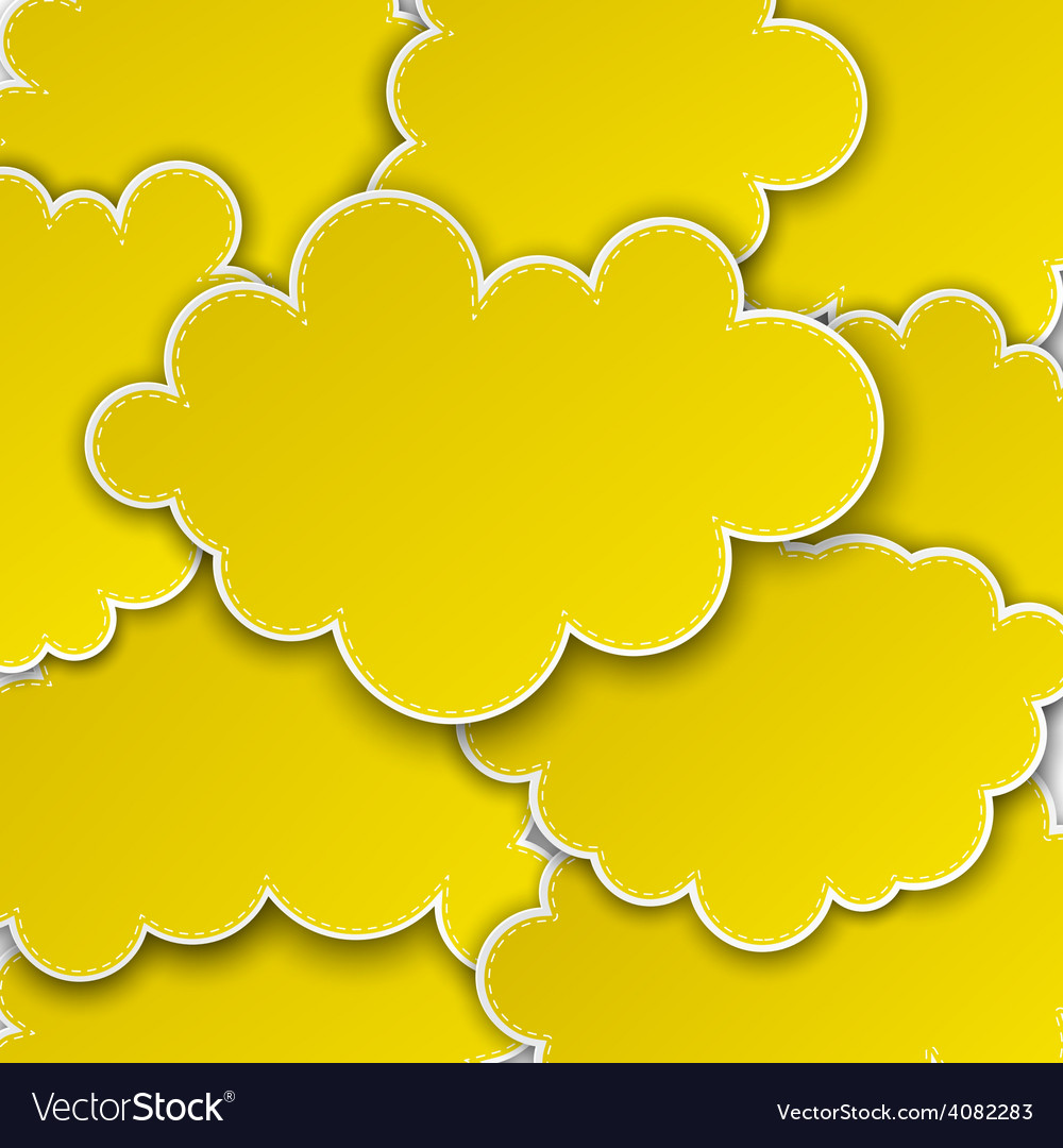 Paper yellow paper cloud background vector   Price: 1 Credit (USD $1)