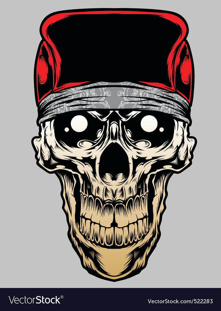 Skull bandana caps gradient vector | Price: 3 Credit (USD $3)