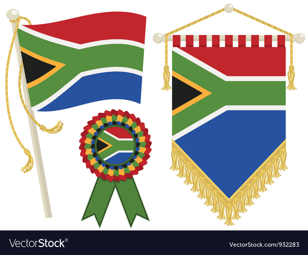 South africa flags vector | Price: 1 Credit (USD $1)