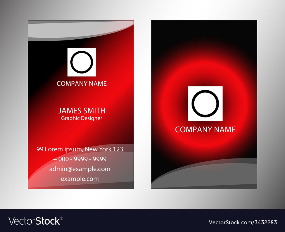 Vertical modern business card set vector | Price: 1 Credit (USD $1)