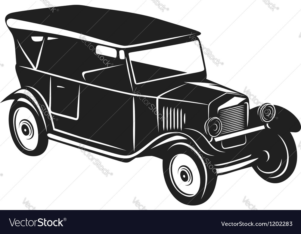 Vintage car vector | Price: 1 Credit (USD $1)