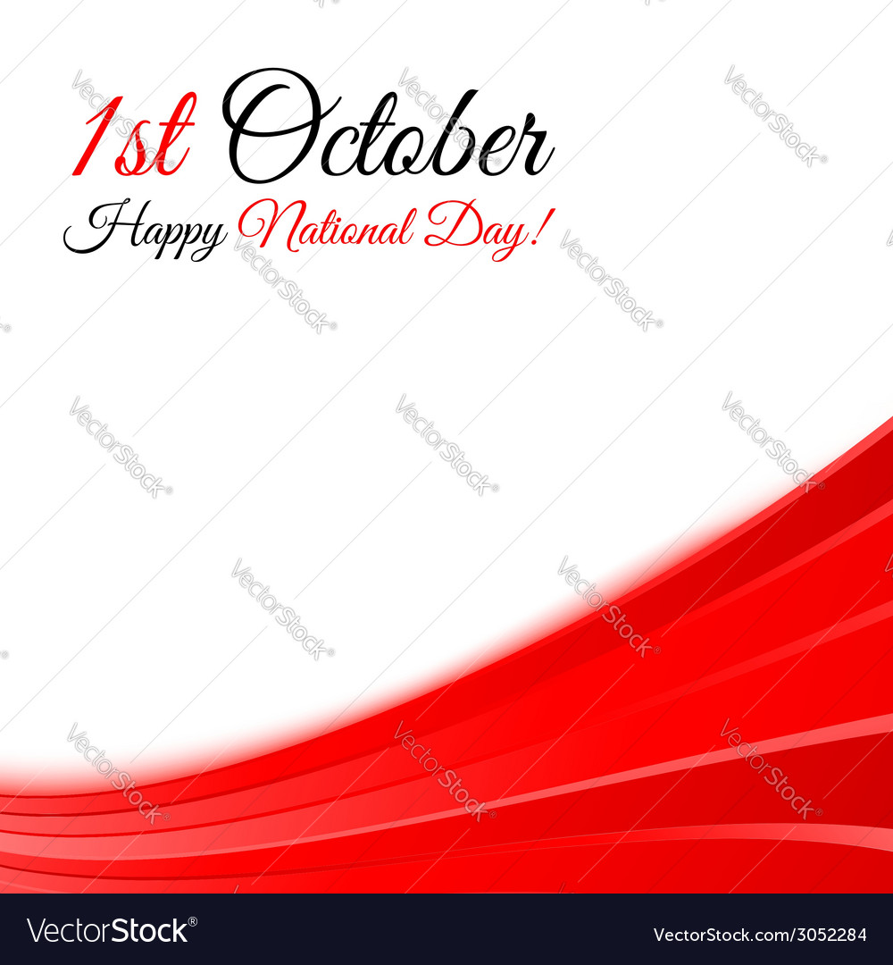 1st october national day background template vector | Price: 1 Credit (USD $1)