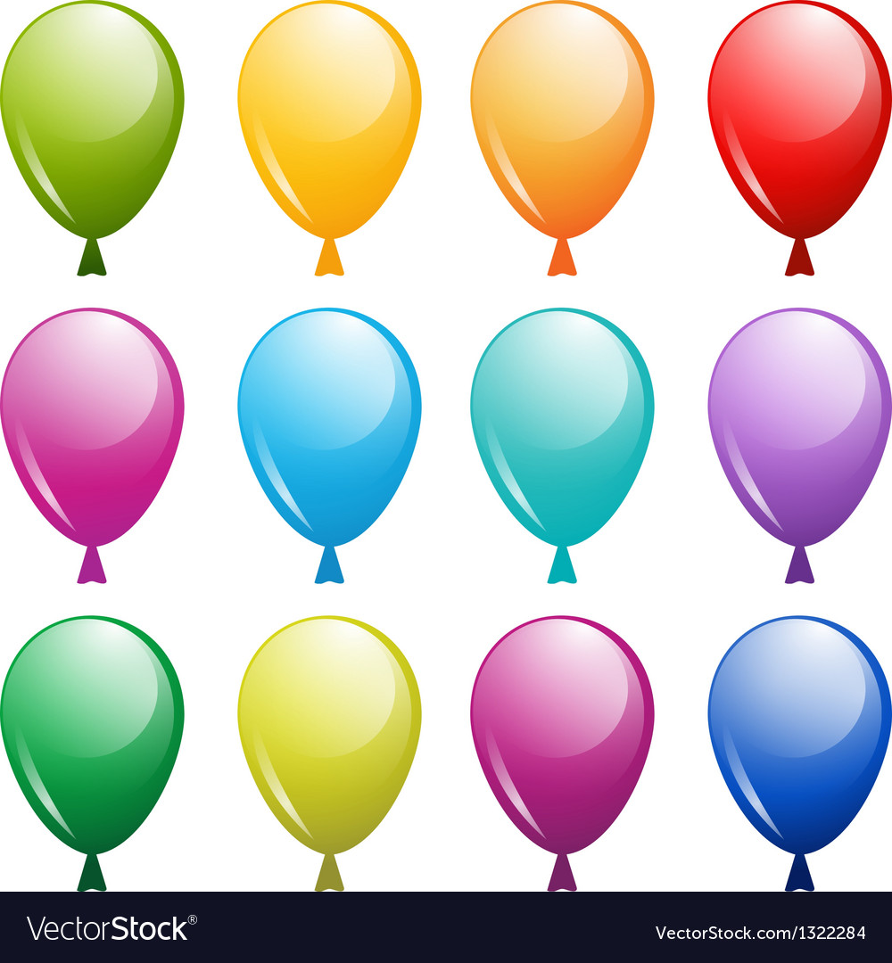 Balloons isolated on white background vector   Price: 1 Credit (USD $1)