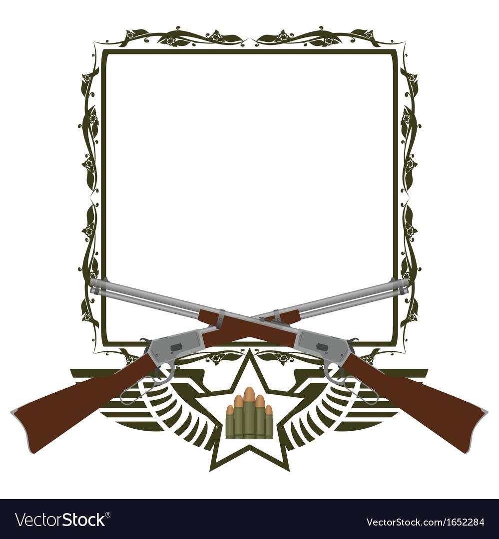 Icon winchester vector | Price: 1 Credit (USD $1)