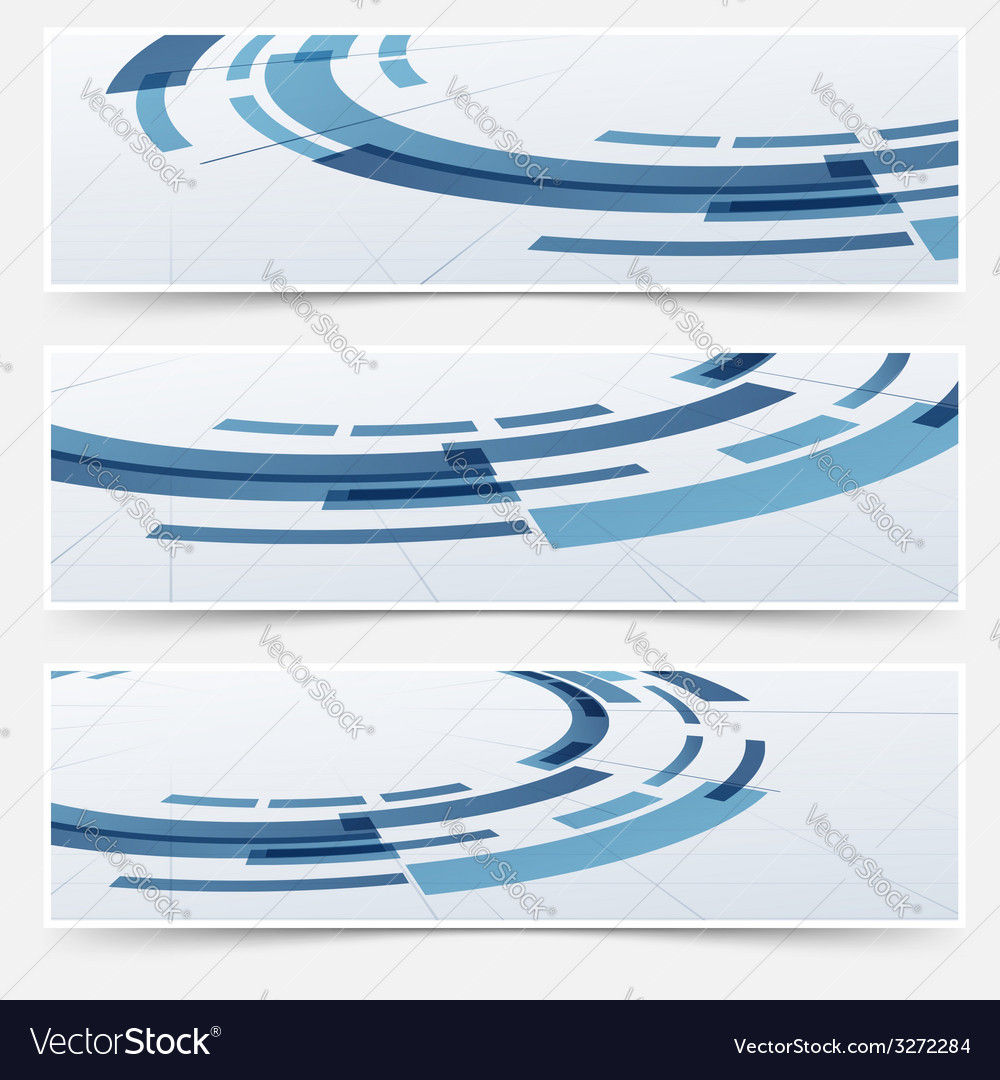 Modern circle round modeling element headers vector | Price: 1 Credit (USD $1)