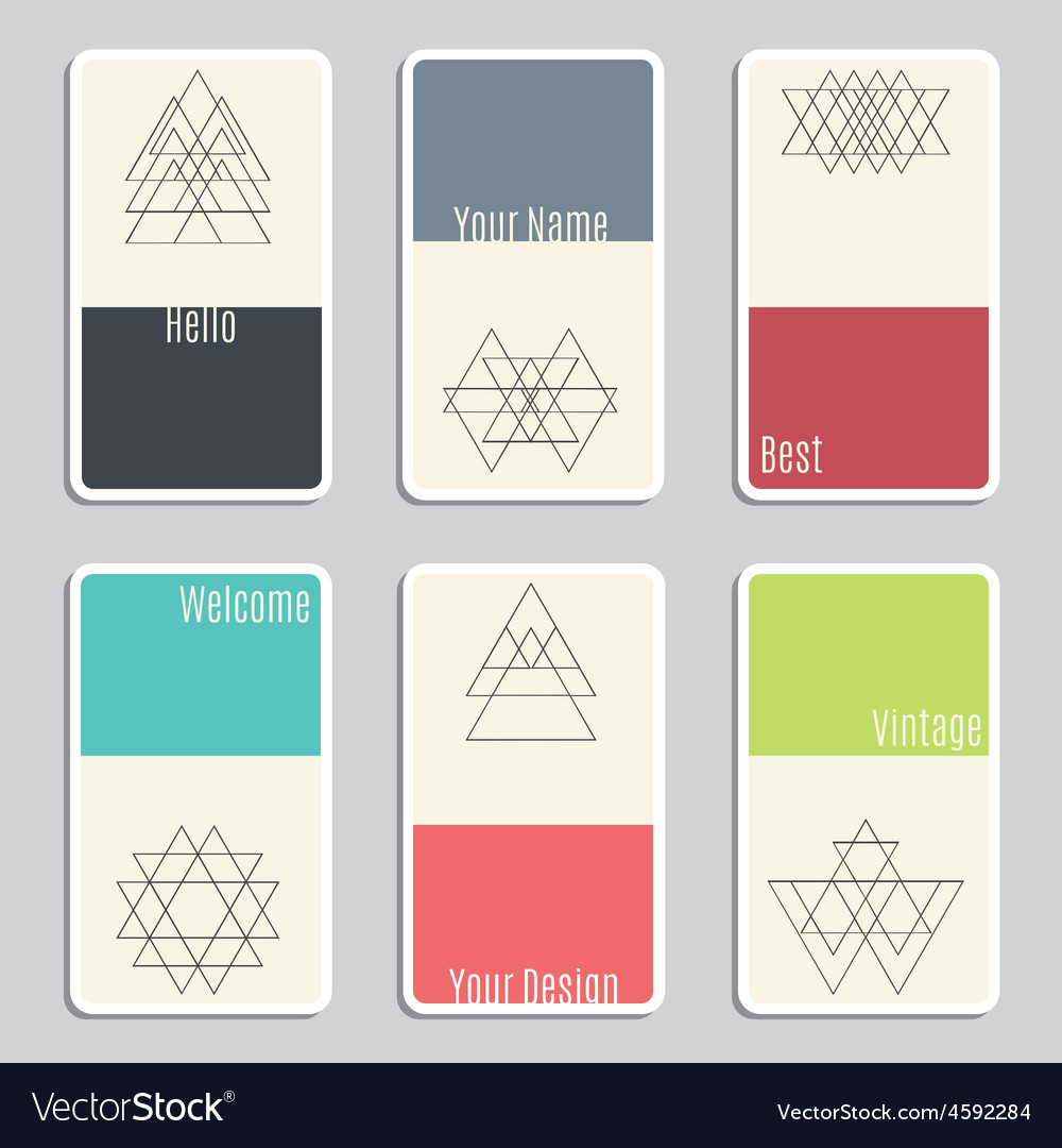 Set of visit cards with geometric figures vector | Price: 1 Credit (USD $1)