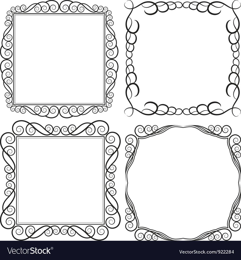 Square frames vector | Price: 1 Credit (USD $1)