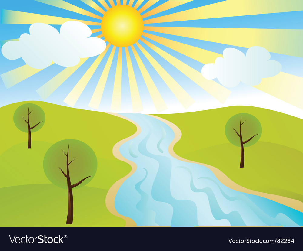 Tranquil landscape vector | Price: 1 Credit (USD $1)