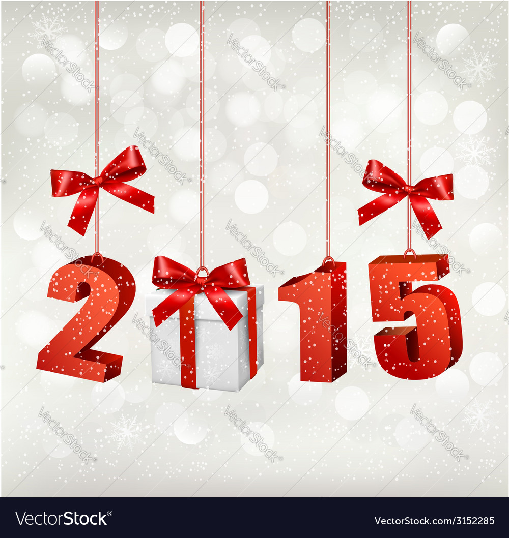 2015 new years background with gift vector | Price: 1 Credit (USD $1)