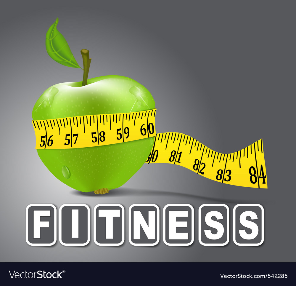 Fitness apple vector | Price: 1 Credit (USD $1)