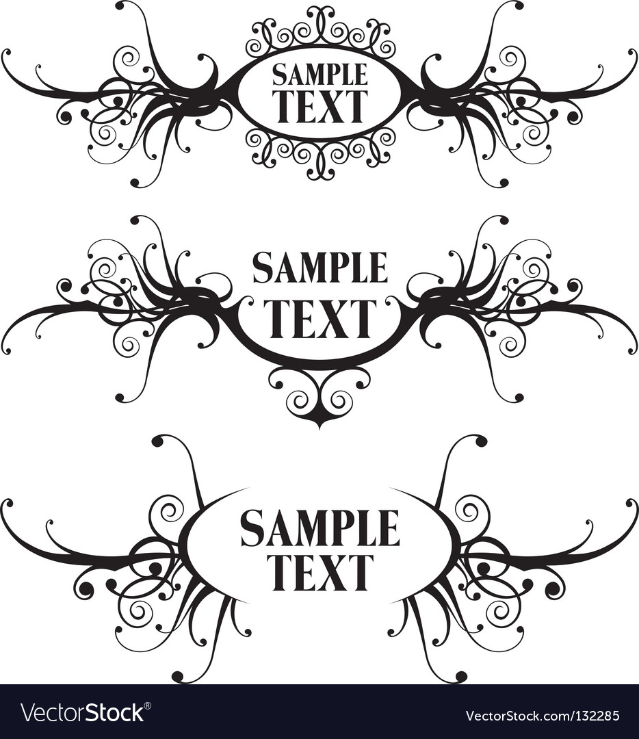 Floral design frames vector | Price: 1 Credit (USD $1)