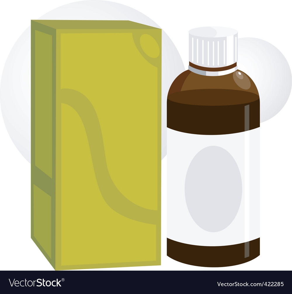 Medicine bottle and packet vector | Price: 1 Credit (USD $1)
