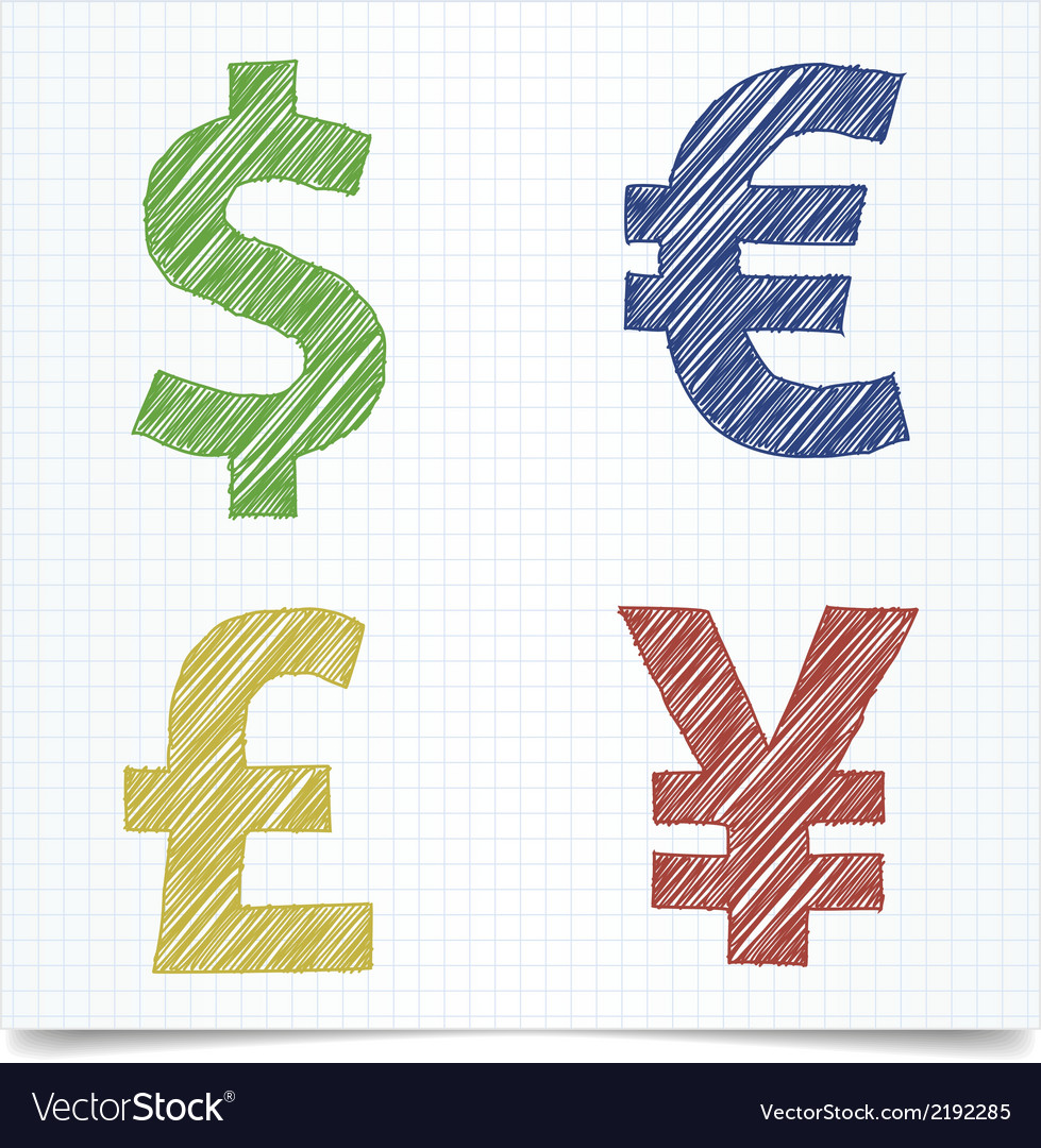 Money sign pen style vector | Price: 1 Credit (USD $1)