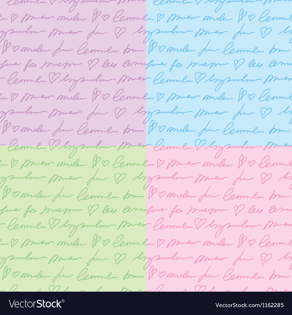 Patterns with hand writing elements vector | Price: 1 Credit (USD $1)
