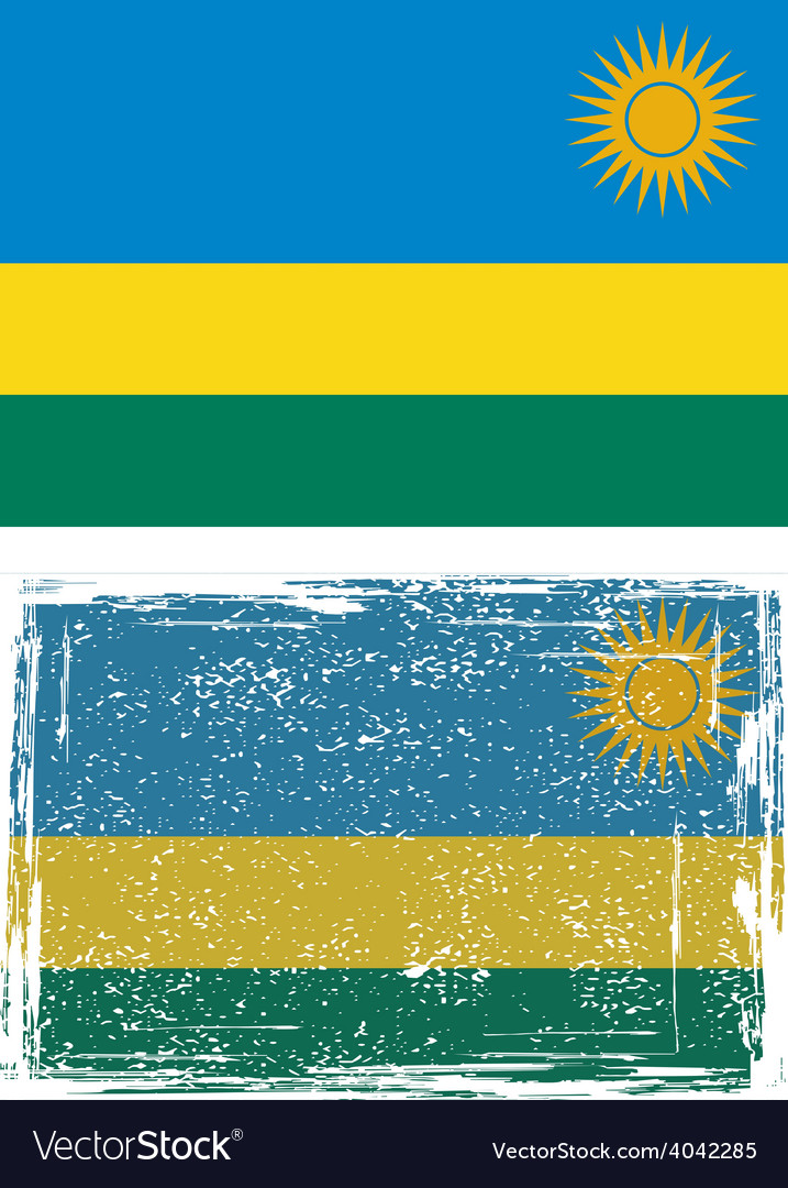 Rwanda grunge flag vector | Price: 1 Credit (USD $1)