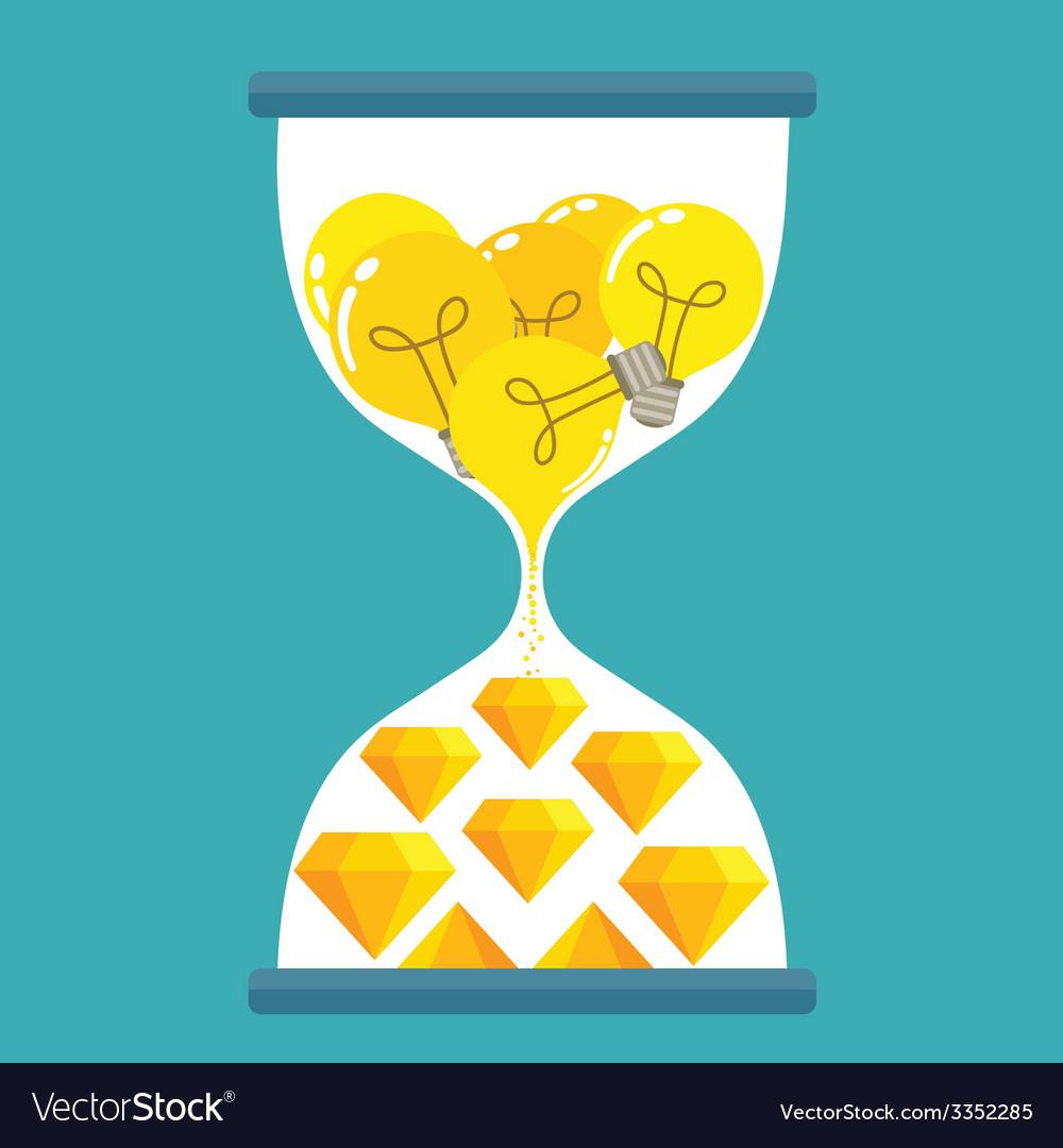 Sand time yellow diamond vector | Price: 1 Credit (USD $1)