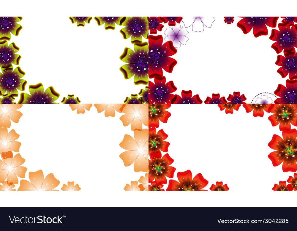 Set of abstract flower background with place for vector | Price: 1 Credit (USD $1)