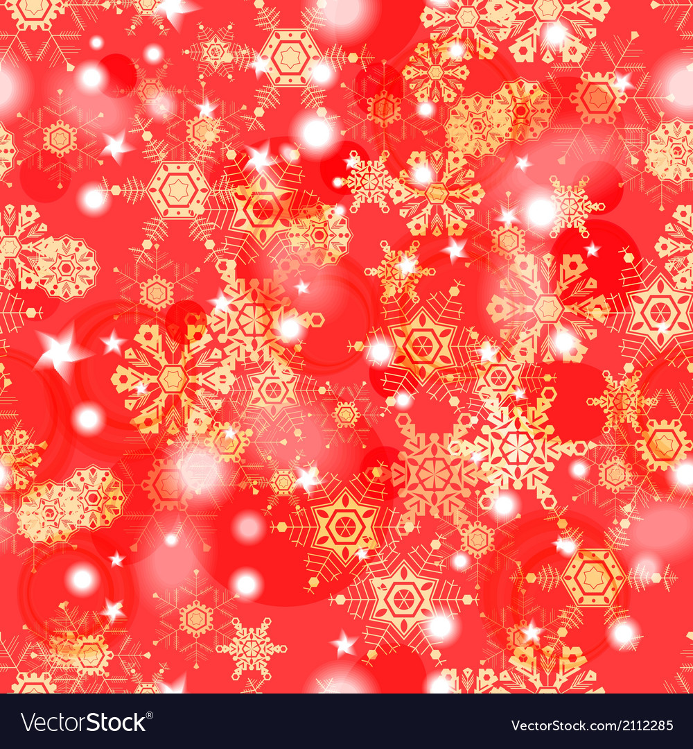 Shiny red winter seamless pattern vector | Price: 1 Credit (USD $1)