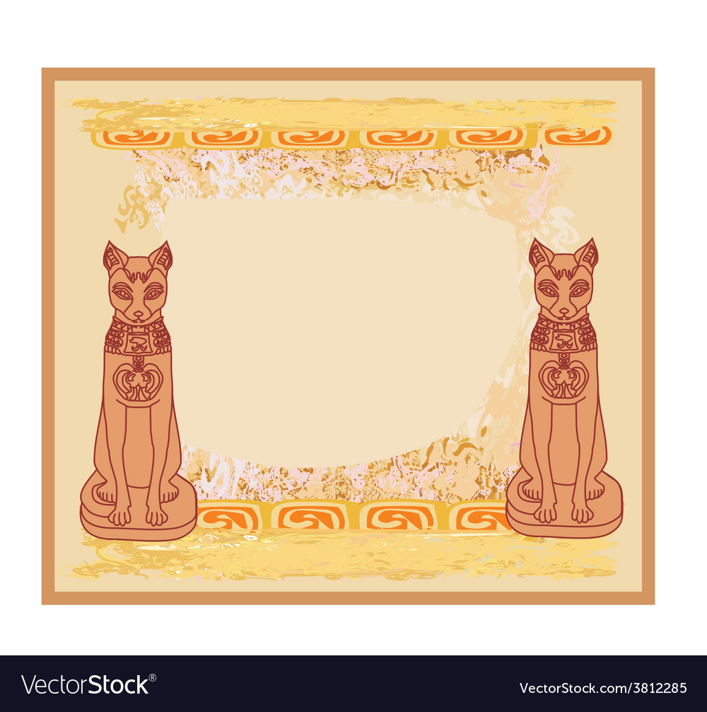 Stylized egyptian cats vector   Price: 1 Credit (USD $1)