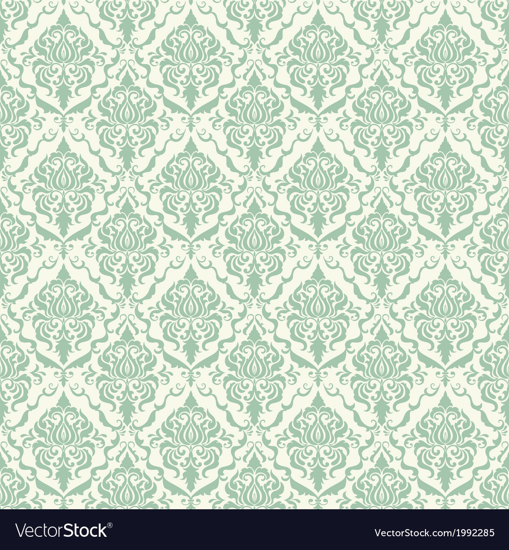 Vintage damask seamless pattern vector | Price: 1 Credit (USD $1)