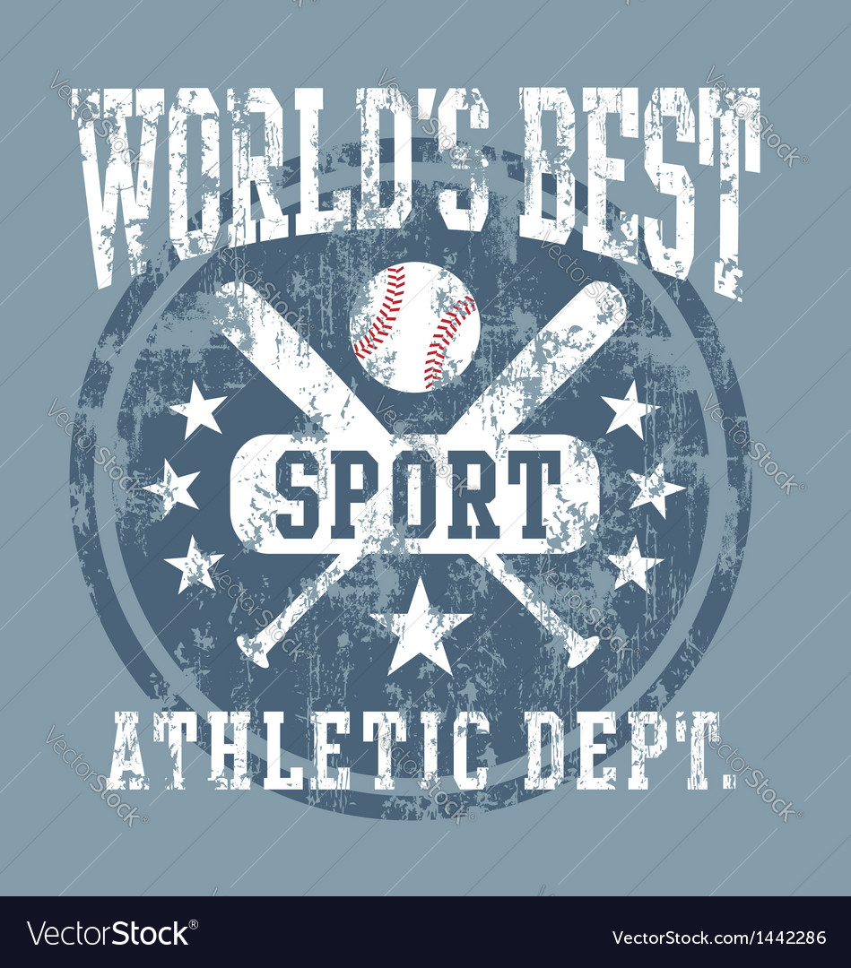 Baseball best sport vector | Price: 1 Credit (USD $1)