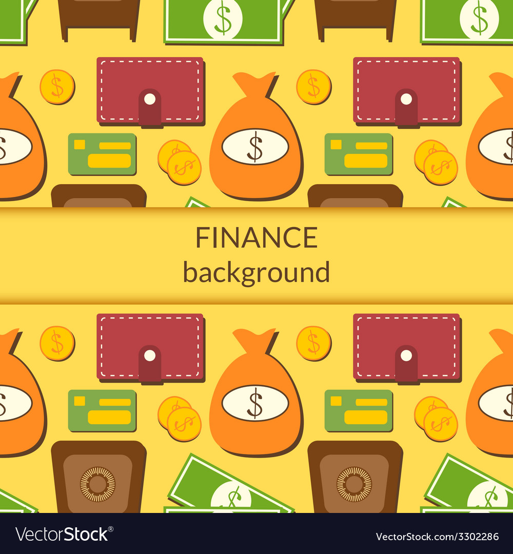 Finance background with objects in flat style and vector | Price: 1 Credit (USD $1)