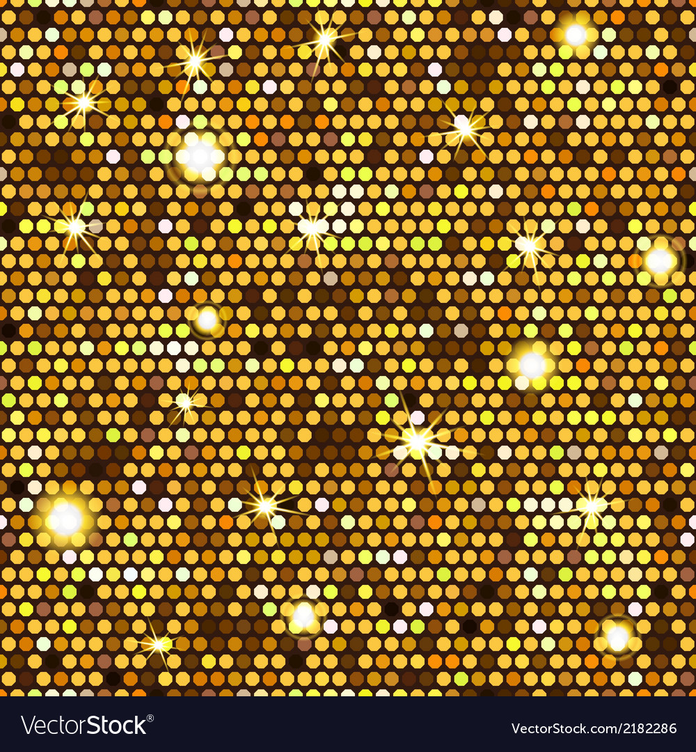 Gold seamless pattern of hexagons vector | Price: 1 Credit (USD $1)
