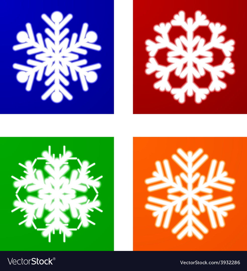 Luminous snowflakes vector | Price: 1 Credit (USD $1)