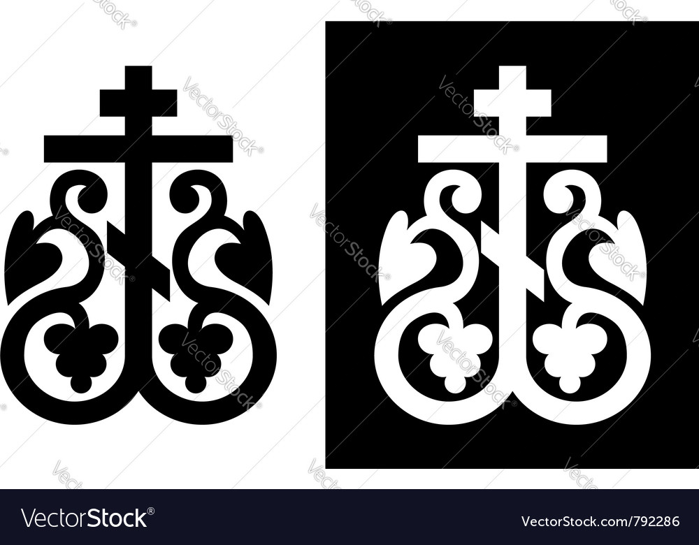 Orthodox cross vector | Price: 1 Credit (USD $1)