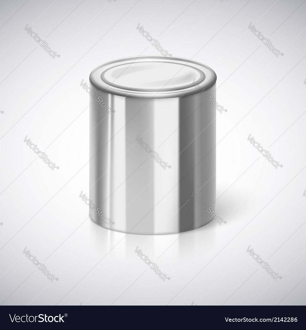 Tin closeup with reflection vector | Price: 1 Credit (USD $1)