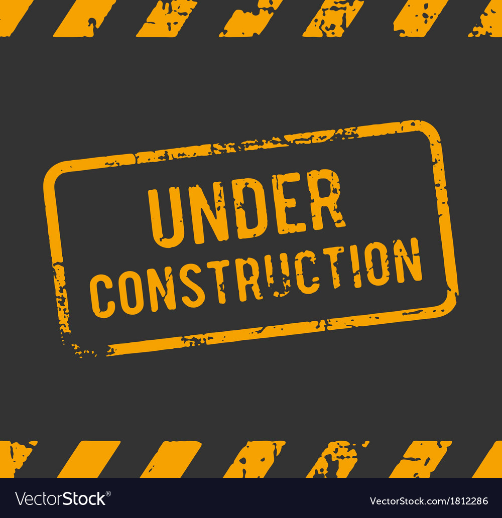 Under construction rubber stamp vector | Price: 1 Credit (USD $1)