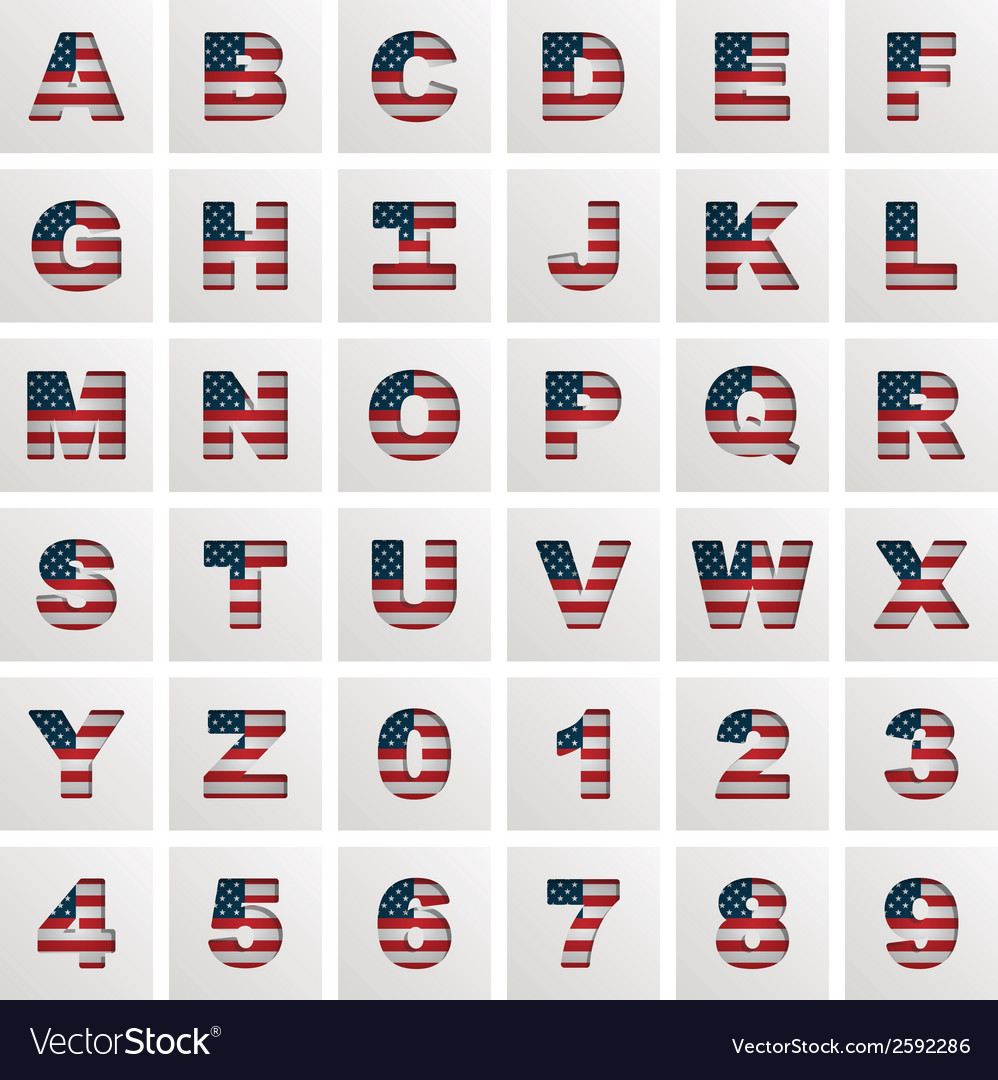 Usa alphabet vector | Price: 1 Credit (USD $1)