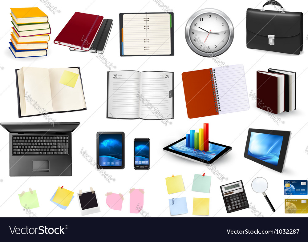 Business and office supplies vector | Price: 5 Credit (USD $5)