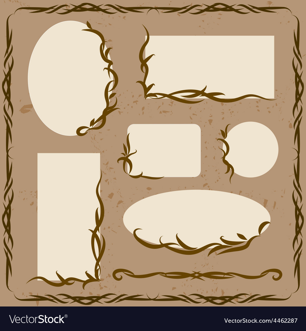 Decorative frames and ornaments vector | Price: 1 Credit (USD $1)