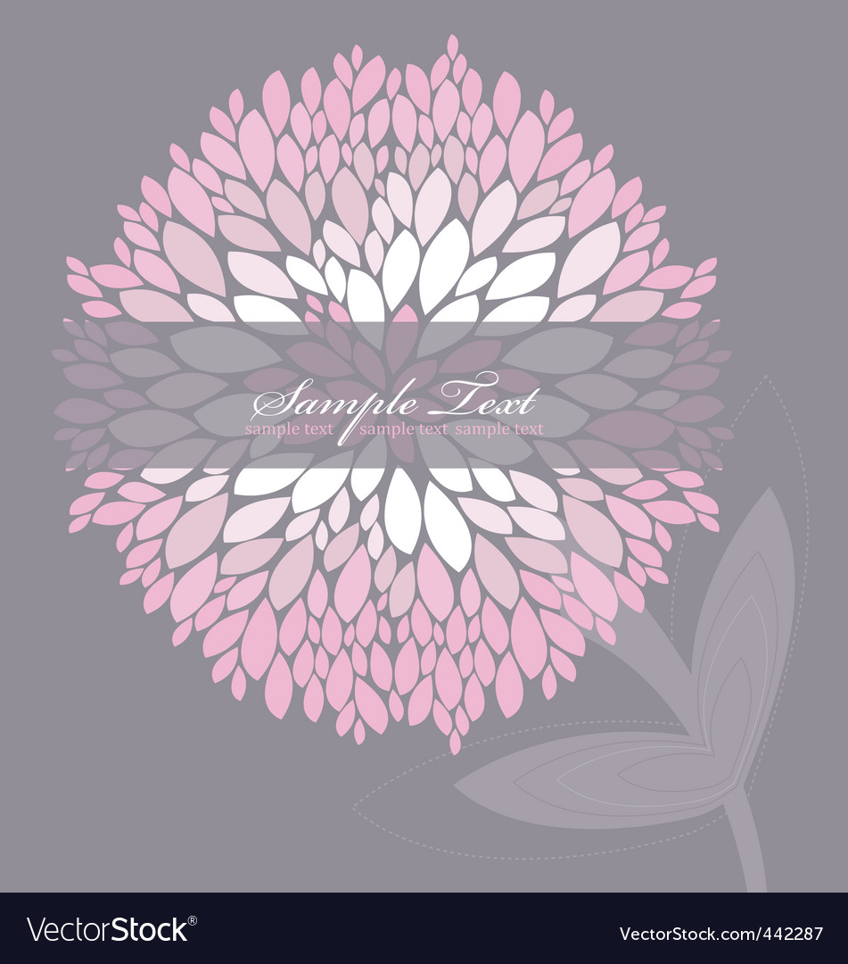 Floral peony background vector | Price: 1 Credit (USD $1)