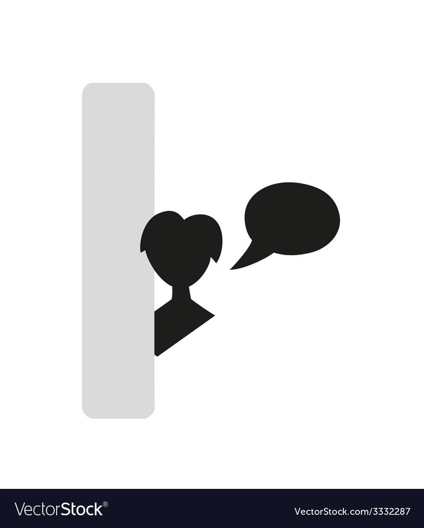 Silhouette speak bubble vector | Price: 1 Credit (USD $1)