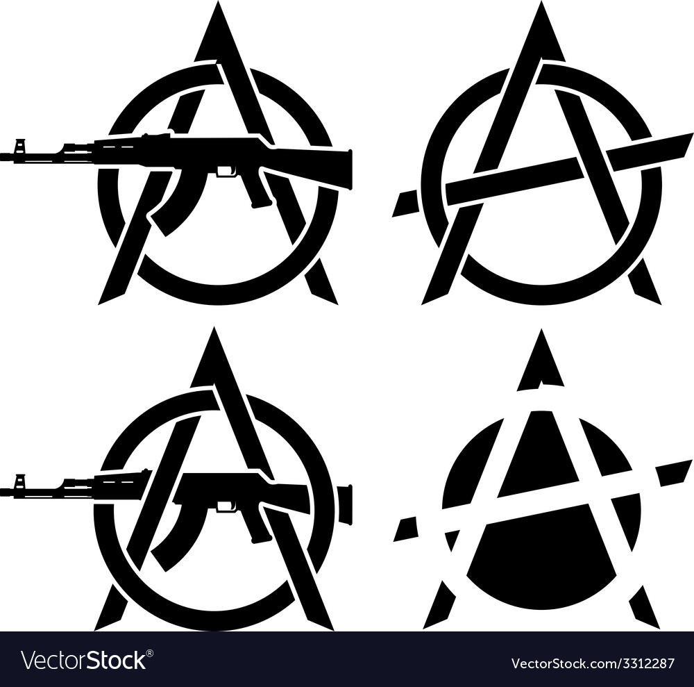 Symbols of anarchy vector | Price: 1 Credit (USD $1)