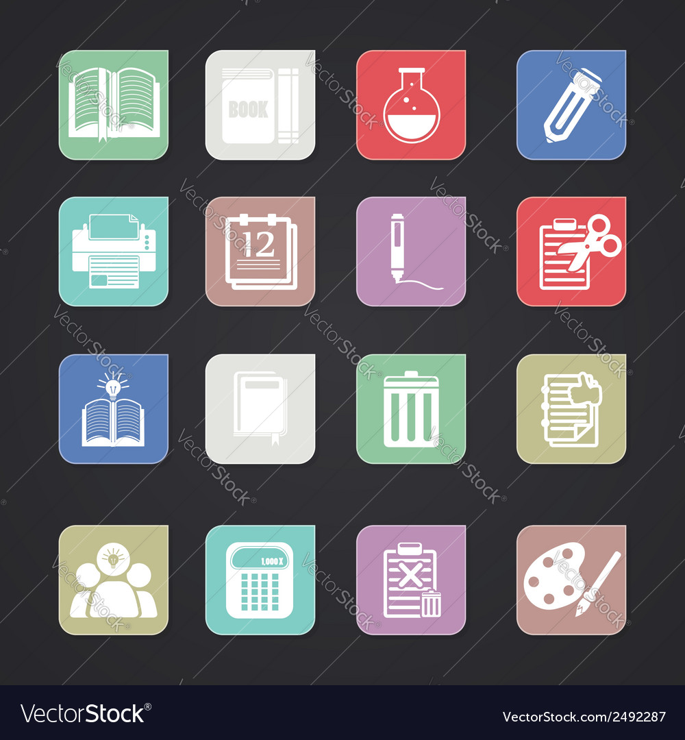 Tools learning icon vector | Price: 1 Credit (USD $1)