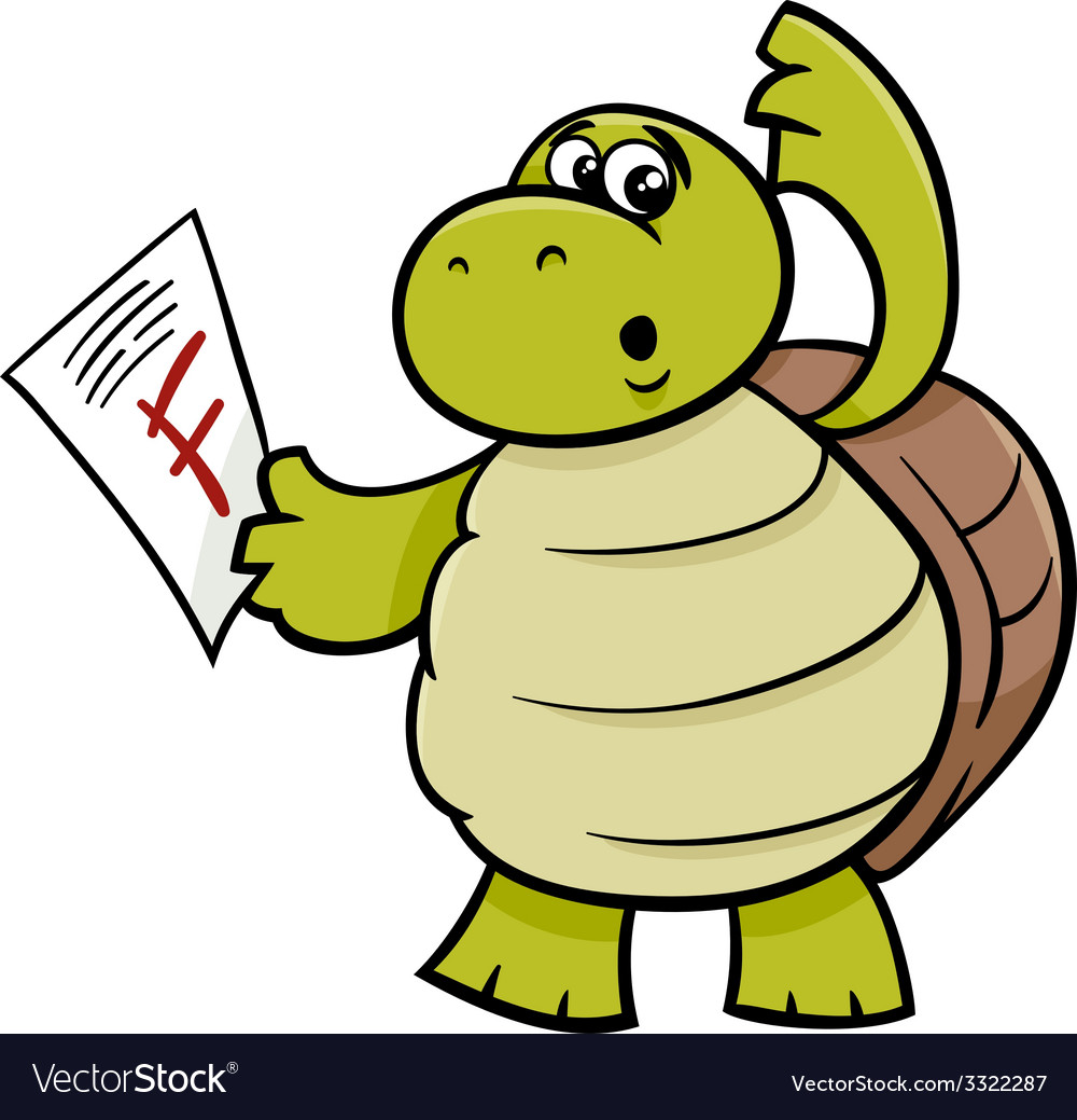 Turtle with f mark cartoon vector | Price: 1 Credit (USD $1)