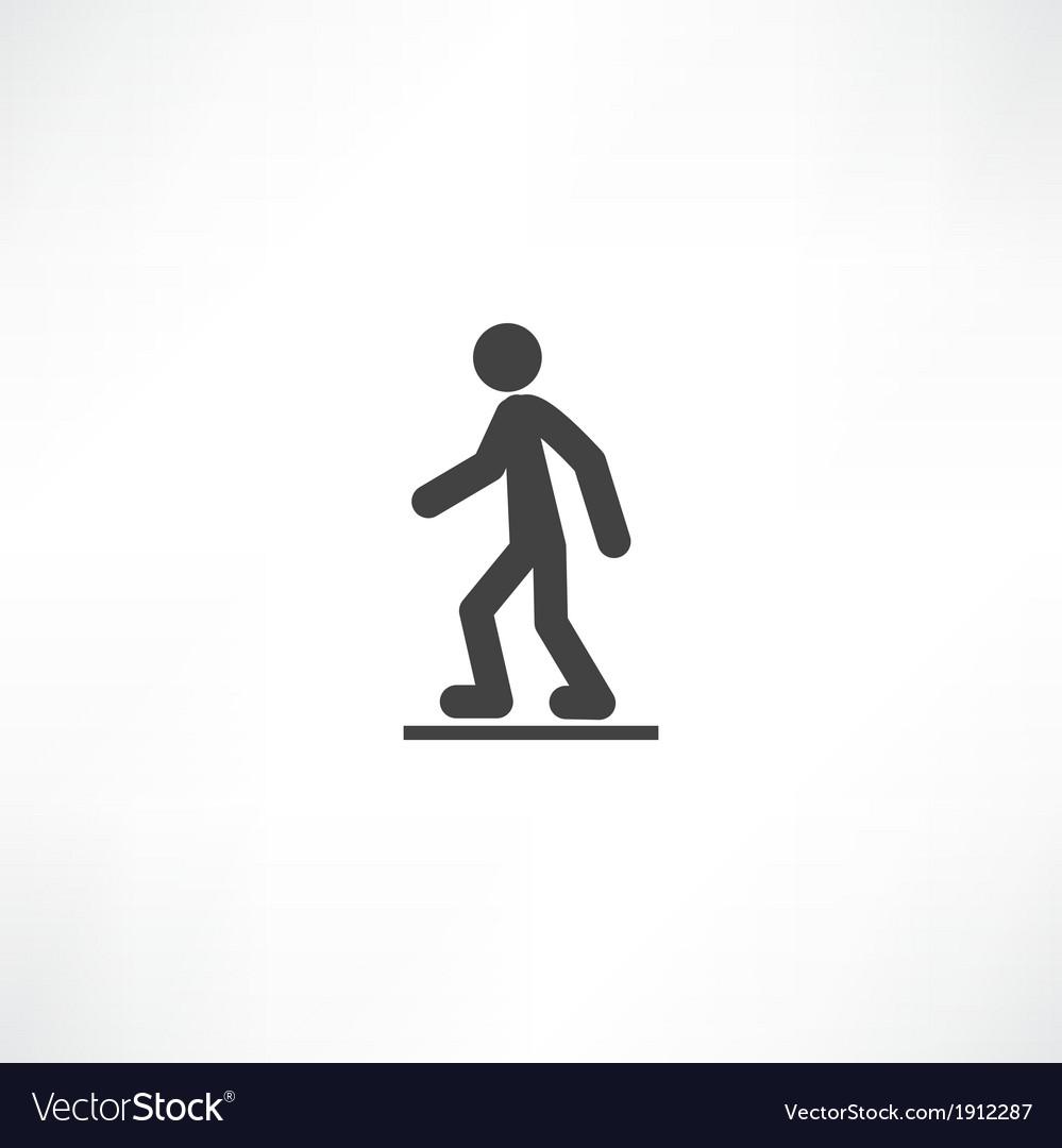 Walking man vector | Price: 1 Credit (USD $1)