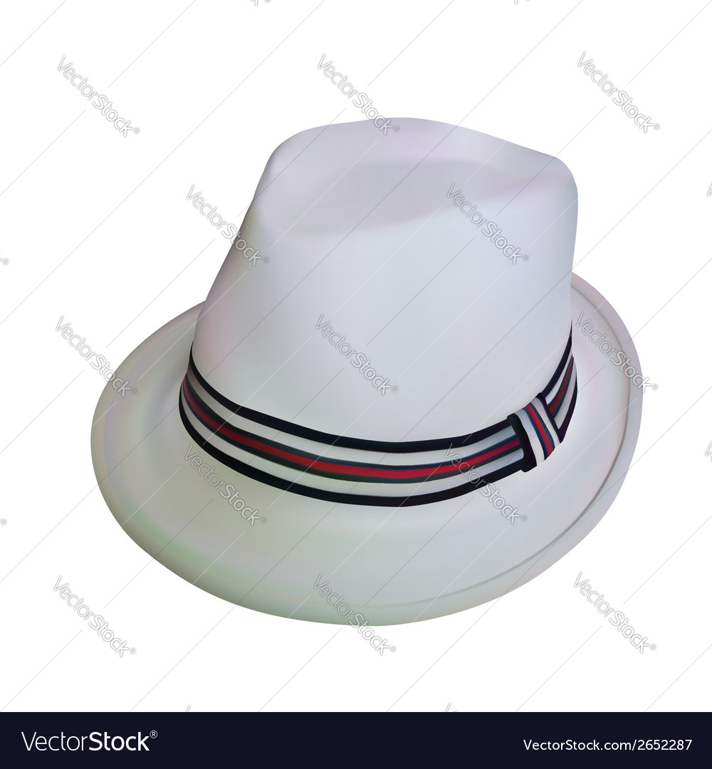 White stylish hat vector | Price: 1 Credit (USD $1)