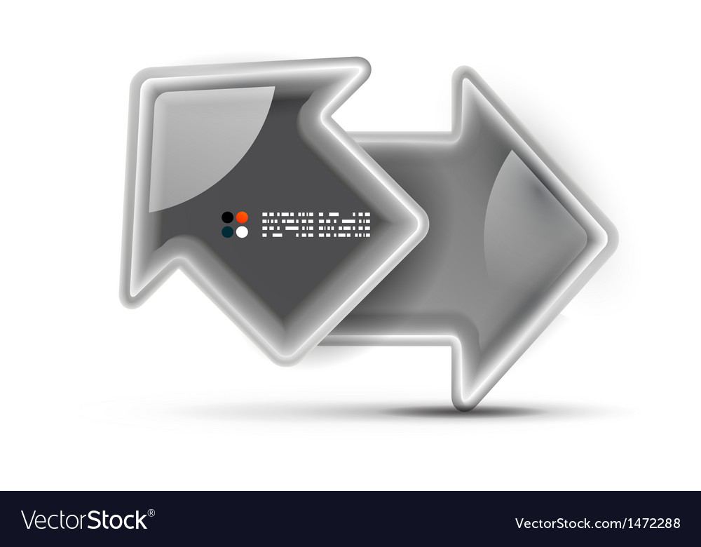 3d glossy arrow technology concept vector | Price: 1 Credit (USD $1)